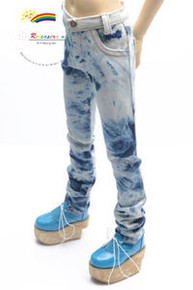 Dollfie SD13 Boy Blue/W Tie-Dye Washed Straight Jeans