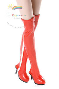 "Over Knee Thigh Heel Boots Shoes Patent Red for 17"" Tonner DeeAnna Denton doll"