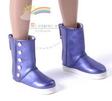 "5-Stud Leather Boots Shoes M.Violet for Slim MSD BJD Minifee Unoa 17"" Tonner Matt/Lara Croft/14"" Kish doll"