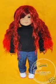"18"" American Girl Bk/C/Red 12-13 Wig #A004-1B/350/R12CT"