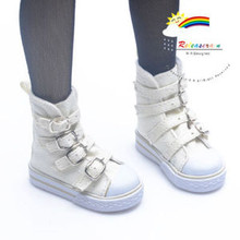 Buckles Ankle Leather Sneakers Boots Shoes Ivory for SD Dollfie dolls