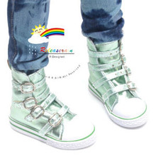 Buckles Ankle Faux Leather Sneakers Boots Shoes M. Honeydew for SD13 Boy Rainy Girl BJD Dollfie Dolls