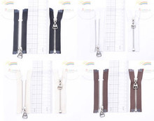 """3.75"""" Silver Plated Brass Open-End Separating Doll Clothes Mini Sewing Zipper 2p"""