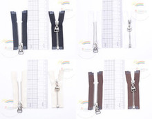 """3"""" Silver Plated Brass Open-End Separating Doll Clothes Mini Sewing Zipper 2pcs"""