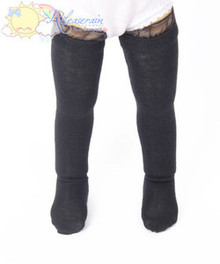 Releaserain Black Knit Stockings Socks for Yo-SD Dollfie BJD dolls