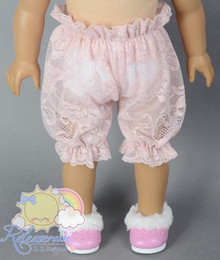 "Doll Clothes Flesh Pink Lace Mesh Bloomers Pants for 18"" American Girl dolls"