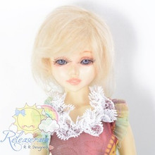 Mohair Wool Doll Wig Size 6-7 #Y44 Blonde Hair for Unoa, Narae, Ellowyne, Yo-SD