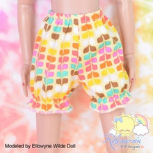 "Doll Clothes Yellow Rainbow Bloomers Pants for Tyler/Ellowyne/14"" Kish/MSD BJD"