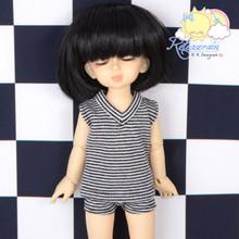 "Black Glitter White Vest Briefs Sleepwear Outfit for Yo-SD Dollfie/12"" Kish Doll"