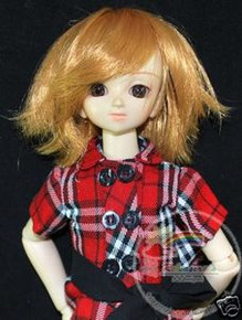 Dark Blond Wild Hair 7-8 Wig for MSD BJD Dollfie Ellowyne Wilde Dolls #4101-144