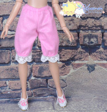 Doll Clothes Fluffy Lace Bloomers Pants Candy Pink for Tyler Ellowyne Wilde MSD