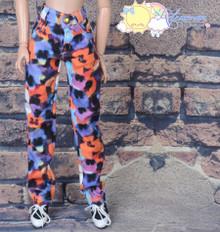 "16"" Fashion Doll Clothes Jeans Pants Violet Orange Black Fantasy for Tonner Tyler Ellowyne Wilde"
