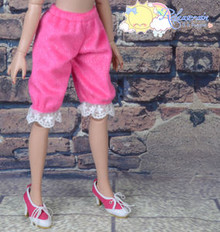 """Doll Clothes Fluffy Lace Bloomers Pants Fuchsia for 16"""" Tyler Ellowyne Wilde MSD"""