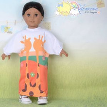 "Doll Clothes Giraffe Couple Morning Maxi Dress for 18"" American Girl Dolls"