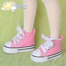 "Doll Shoes Ankle Sneakers Boots Pink for MSD BJD Dollfie Unoa 17"" Tonner Matt"