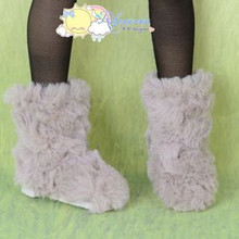Doll Shoes Fluffy Furry Fuzzy Boots Shaggy Oatmeal for SD Girl Dollfie BJD Dolls