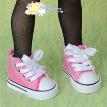 "Doll Shoes Ankle Sneakers Boots S Pink for MSD BJD Dollfie Unoa 17"" Tonner Matt"