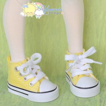 "Doll Shoes Ankle Sneakers Boots Yellow for MSD BJD Dollfie Unoa 17"" Tonner Matt"