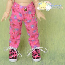 Doll Clothes Strawberry Denim Pink Jeans for Yo-SD Littlefee BJD Dollfie Dolls