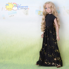 Doll Clothes Black Turtleneck/Gold Sequin Dress for Tyler Ellowyne Wilde MSD BJD