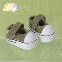 "Doll Shoes Mary Jane Sneakers Olive for Lati Yellow Pukifee BJD 8"" Kish Riley,Riki Blythe Dolls"