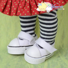 "Doll Shoes Mary Jane Sneakers White for Lati Yellow Pukifee BJD 8"" Kish Riley,Riki Blythe Dolls"