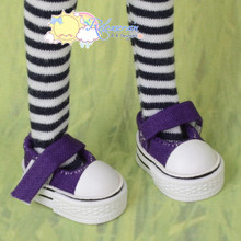 "Doll Shoes Mary Jane Sneakers Dark Purple for Lati Yellow Pukifee BJD 8"" Kish Riley,Riki Blythe Dolls"