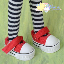 "Doll Shoes Mary Jane Sneakers Red for Lati Yellow Pukifee BJD 8"" Kish Riley,Riki Blythe Dolls"