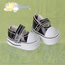 "Doll Shoes Mary Jane Sneakers Patent Black for Lati Yellow Pukifee BJD 8"" Kish Riley,Riki Blythe Dolls"
