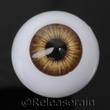 Doll Acrylic Eyes Half Round Brown Taffy #R002 20mm for BJD Dollfie, Reborn Dolls