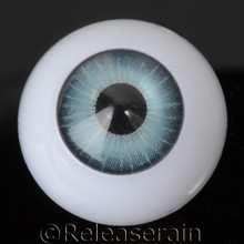 Doll Acrylic Eyes Half Round Sea Teal #R006 20mm for BJD Dollfie, Reborn Dolls