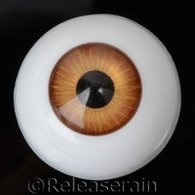 Doll Acrylic Eyes Half Round Burnt Orange #R008 22mm for BJD Dollfie, Reborn Dolls