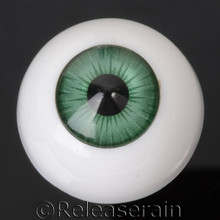 Doll Acrylic Eyes Half Round Forest Green #R009 22mm for BJD Dollfie, Reborn Dolls