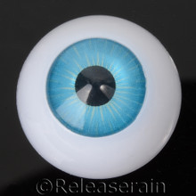 Doll Acrylic Eyes Half Round Caribbean Blue #R014 20mm for BJD Dollfie, Reborn Dolls