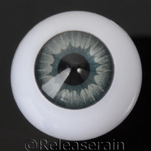 Doll Acrylic Eyes Half Round Grey Sun #R015 20mm for BJD Dollfie, Reborn Dolls