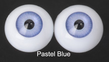Doll Acrylic Eyes Half Round Pastel Blue #R001 18mm for BJD Dollfie, Reborn Dolls