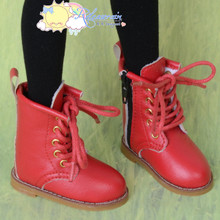 "Martin Stitch Shoes Boots Red for MSD BJD Dollfie Kaye Wiggs 16"" Sasha Dolls"