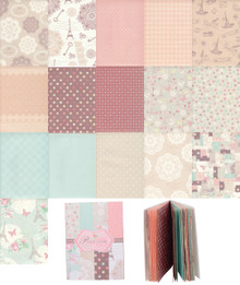 Vintage Look 16 Designs 32 Sheets Wedding Gift Scrapbooking Craft Wrapping Paper Book Style B
