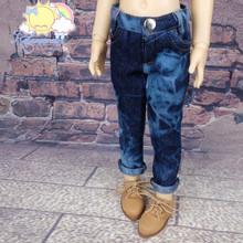BJD Doll Clothes Denim Mosaic Tie-Dye Washed Jeans Pants for Volks MSD Minifee Kaye Wiggs Unoa Luts Kid Dollfie Dolls
