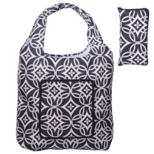 Releaserain Lightweight Handy Waterproof Black White Concerto Folding Hobo Tote Bag Packable Foldable Portable Handbag for Shopping Outdoor Beach Gym Carry On Travel