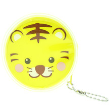 Cute Animal Tiger Round Shape Plastic Coin Purse Pouch Wallet Cash Bag Ball Chain Keychain Japan Import