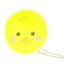 Cute Animal Duck Round Shape Plastic Coin Purse Pouch Wallet Cash Bag Ball Chain Keychain Japan Import