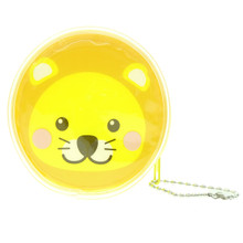 Cute Animal Lion Round Shape Plastic Coin Purse Pouch Wallet Cash Bag Ball Chain Keychain Japan Import