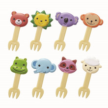Torune Mama's Assist Lunch Box Accessories Bento Decoration Japanese Food Fork Picks Cute Animal Set of 8 Pieces P-3116
