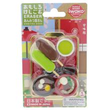 Iwako Eraser Japanese Dessert Shop Anmitsu Mochi Dango Green Tea Miniatures Set Japan Import Made in Japan