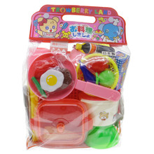 Lucky Toy Strawberry Land Japanese Play House Toys Pretend Role Play Food Kitchen Tools Cookware Utensils Cooking Playset Assortment Set for Kids Japan Import Made in Japan