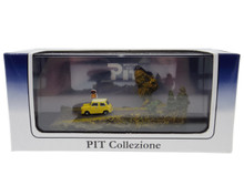 Pit Collezione Japan Mini Car Gallery Yellow Diecast & Scene in Display Case