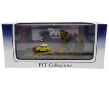 Pit Collezione Japan Mini Car Gallery Yellow Diecast & Scene in Display Case