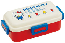 Skater Sanrio 70s Hello Kitty 4-Point Lock Leakproof Bento Lunch Box 530ml with Chopsticks and Cool Ice Pack Japan Import Made in Japan