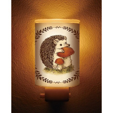 Biken Japan Electric Plug In Hedgehog Motif Aroma Night Dimmable Light Lamp Aromatherapy Fragrance Essential Oil Warmer Burner Diffuser Japan Import